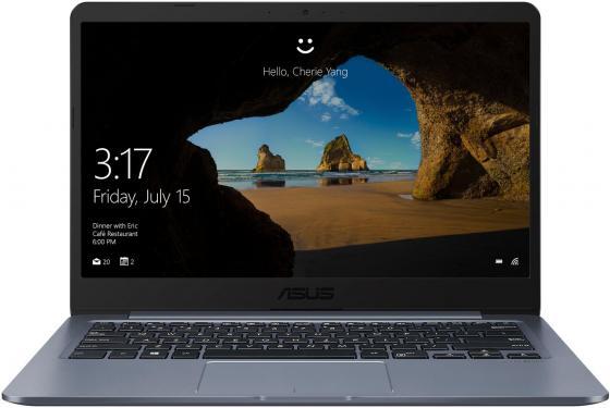 Ноутбук ASUS VivoBook E406SA-BV011T 14 1366x768 Intel Celeron-N3060 64 Gb 4Gb Intel HD Graphics 400 серый Windows 10 90NB0HK1-M03490 ноутбук asus vivobook e406sa bv011t 90nb0hk1 m03490