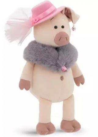 Мягкая игрушка свинка ORANGE Мадам Свинкина 30 см искусственный мех текстиль пластик orange мягкая игрушка orange свинка сашенька 25 см