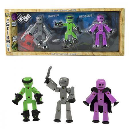 Набор фигурок Stikbot Стикбот 3 фигурки игрушка stikbot фигурка питомца
