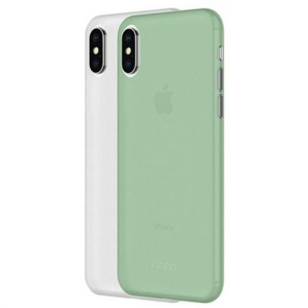 Набор из двух чехлов Incipio Feather Light для iPhone XS/X. Материал пластик. Цвет белый, зеленый. 12mm extra long head micro usb cable extended connector 1m cabel for homtom zoji z8 z7 nomu s10 pro s20 s30 mini guophone v19