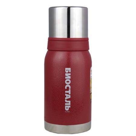 Термос BIOSTAL 750NBА-R красный 0.75 л нержавеющая сталь термос biostal 750nbа b синий 0 75 л нержавеющая сталь