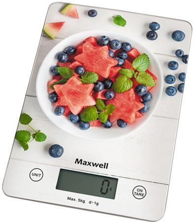 Весы кухонные Maxwell MW-1478(MC) белый рисунок весы кухонные maxwell mw 1473 b голубой рисунок