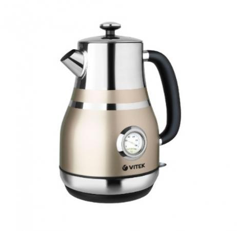 Чайник Vitek 7068 2200 Вт бежевый 1.6 л нержавеющая сталь цена