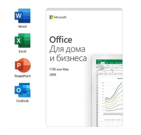 Офисное приложение MS Office Home and Business 2019 Russian Russia Only Medialess коробка T5D-03242 программное обеспечение microsoft office home and business 2016 64 russian only dvd t5d 02705