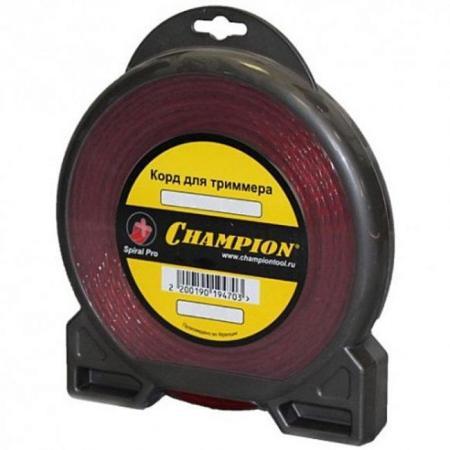 Корд трим. CHAMPION C5051 Spiral Pro 3.0мм 15м витой champion pro