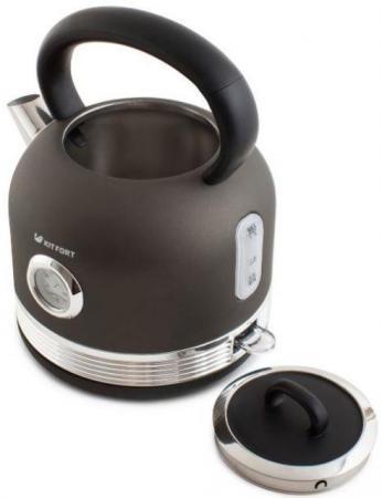 Чайник электрический KITFORT КТ-634-1 2150 Вт графит 1.7 л нержавеющая сталь чайник электрический kitfort кт 634 3 2150 вт бежевый 1 7 л пластик