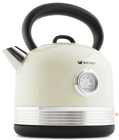 Чайник электрический KITFORT КТ-634-3 2150 Вт бежевый 1.7 л пластик чайник электрический kitfort кт 634 3 2150 вт бежевый 1 7 л пластик