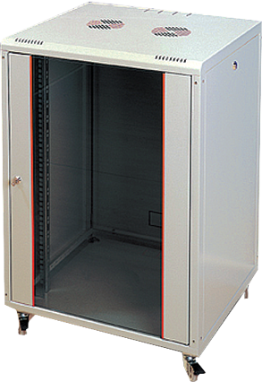 """Шкаф настенный PROline 19"""" 16U 600x560, мет.дверь, цвет серый цена и фото"""