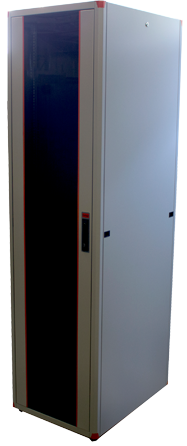 цена на Шкаф напольный EVOLINE 1942U800x800 передняя дверь двустворчатое стекло с металлической рамой слева и справа,задняя дверь двустворчатая металлическая ,цвет серый
