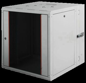 цена на Шкаф настенный PROline 1912U600x(160+450) дверь стекло с металлической рамой слева и справа, цвет серый