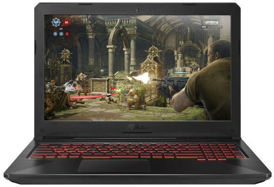 Купить Ноутбук ASUS TUF Gaming FX504GD-E4858T 15.6 1920x1080 Intel Core i5-8300H 1 Tb 128 Gb 16Gb Bluetooth 5.0 nVidia GeForce GTX 1050 4096 Мб черный Windows 10 Home 90NR00J3-M15440
