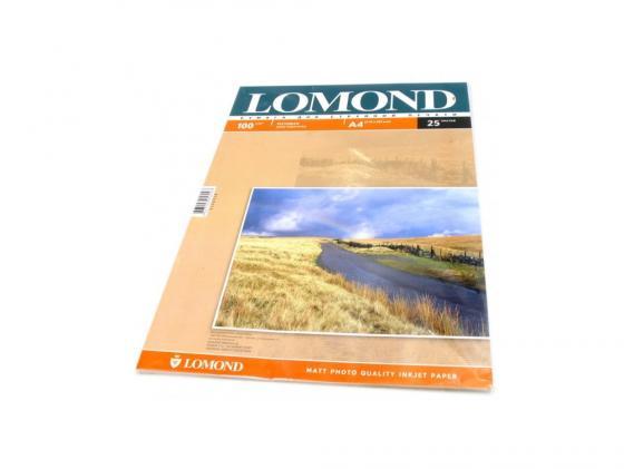 Фото - Бумага Lomond A4 100г/кв.м матовая двустороння 0102038 25л бумага lomond a4 130г кв м двусторонняя матовая 0102004 100л