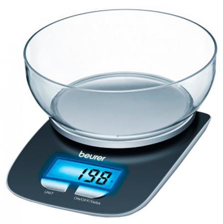 Весы кухонные Beurer KS25 чёрный кухонные весы sinbo sks 4516 чёрный