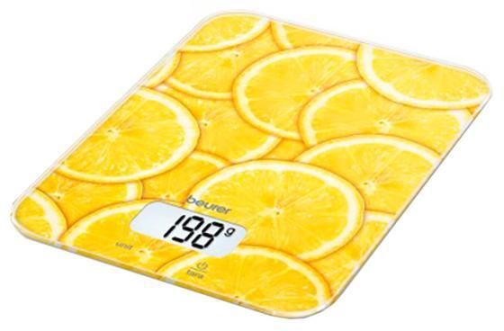 Весы кухонные Beurer KS19 lemon рисунок весы кухонные beurer ks19 love рисунок