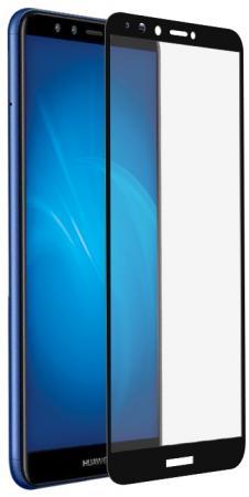 Закаленное стекло с цветной рамкой (fullscreen+fullglue) для Huawei Honor 7A Pro/Y6 (2018)/Honor 7C/Y6 Prime (2018) DF hwColor-54 (black) смартфон honor 7a prime 32gb black