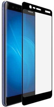 Закаленное стекло с цветной рамкой (fullscreen) для Nokia 5.1 (2018) DF nkColor-16 (black) защитное стекло для экрана df nkcolor 16 для nokia 5 1 1 шт черный [df nkcolor 16 black ]
