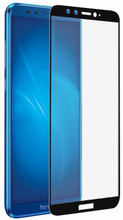 Закаленное стекло с цветной рамкой (fullscreen+fullglue) для Huawei Honor 9 Lite DF hwColor-35 (black)