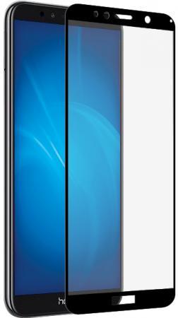Закаленное стекло с цветной рамкой (fullscreen+fullglue) для Huawei Honor 7A/Y5 (2018)/Y5 Prime (2018) DF hwColor-57 (black)
