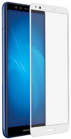Закаленное стекло с цветной рамкой (fullscreen+fullglue) для Huawei Honor 7A Pro/Y6 (2018)/Honor 7C/Y6 Prime (2018) DF hwColor-54 (white) lcd screen display touch digitizer with frame for huawei honor 7i not for honor 7 blue or white or gold free shipping
