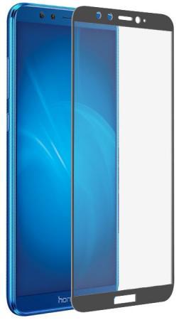 Закаленное стекло с цветной рамкой (fullscreen+fullglue) для Huawei Honor 9 Lite DF hwColor-35 (gray) аксессуар закаленноестеклодляhonor9