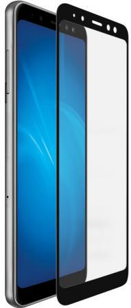 Закаленное стекло с цветной рамкой (fullscreen+fullglue) для Samsung Galaxy A8 Plus (2018) DF sColor-37 (black) аксессуар для гриля weber стартер для розжига угля портативный