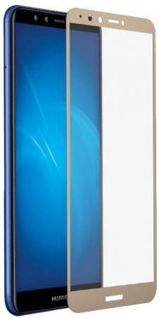 Закаленное стекло с цветной рамкой (fullscreen+fullglue) для Huawei Y9 (2018)/Y9 Prime (2018) DF hwColor-48 (gold) shs красный huawei y9 2018