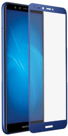Закаленное стекло с цветной рамкой (fullscreen+fullglue) для Huawei Y9 (2018)/Y9 Prime (2018) DF hwColor-48 (blue) goowiiz синий huawei y9 2018 enjoy 8 plus