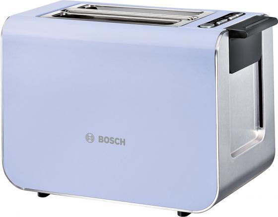 Тостер Bosch TAT8619 сиреневый серый серебристый