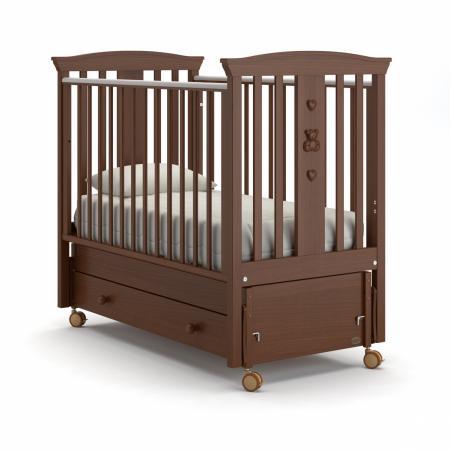 Кроватка с маятником Nuovita Fasto Swing (noce scuro) кровать с маятником mibb tender noce antico swing walnut темный орех li003rna