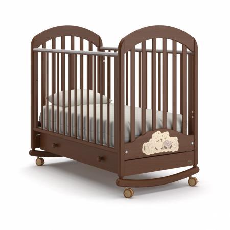 Кроватка-качалка Nuovita Grano Dondolo (noce scuro) детская кровать nuovita grano dondolo bianco белый