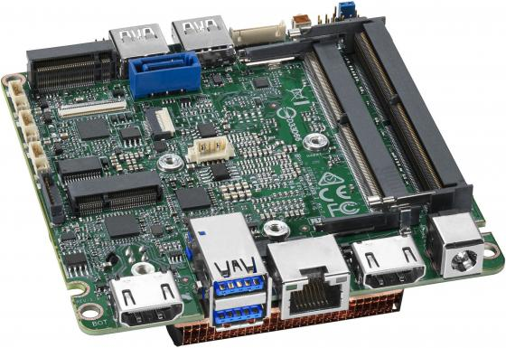 Купить Intel MotherBoard BLKNUC7i5DNBE, Intel Intel i5-7260U, 3.4GHz, 1xDDR4 SODIMM (up to 2133MHz/32Gb), VGA Intel HD Graphics 620 (2xHDMI 4K), 4xUSB3.0, 1xRS-232, GBL, vPro, no WiFi, 958787