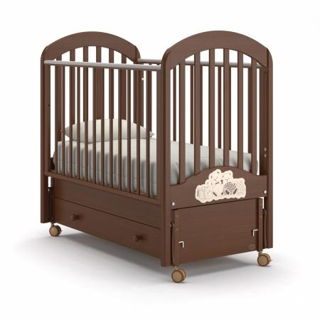 Кроватка с маятником Nuovita Grano Swing (noce scuro) кровать с маятником mibb tender noce antico swing walnut темный орех li003rna