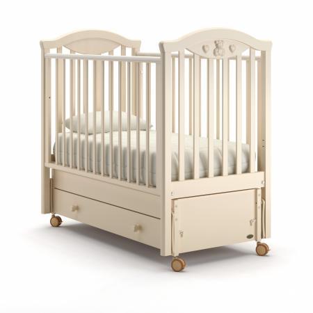 Кроватка с маятником Nuovita Lusso Swing (avorio) детские кроватки nuovita lusso swing маятник продольный