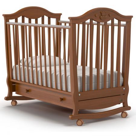 Кроватка-качалка Nuovita Sorriso Dondolo (noce scuro) детская кровать nuovita grano dondolo bianco белый