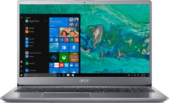 Ноутбук Acer Swift 3 SF315-52G-52H2 15.6 1920x1080 Intel Core i5-8250U 256 Gb 8Gb nVidia GeForce MX150 2048 Мб серебристый Windows 10 Home NX.GZAER.002 ультрабук acer swift 3 sf314 54g 5797 14 1920x1080 intel core i5 8250u 256 gb 8gb nvidia geforce mx150 2048 мб серебристый windows 10 home nx gy0er 001