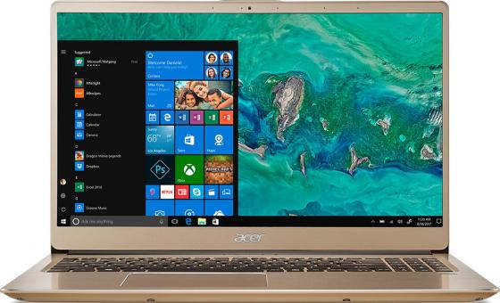 "Ультрабук Acer Swift 3 SF315-52G-52B4 15.6"" 1920x1080 Intel Core i5-8250U 256 Gb 8Gb nVidia GeForce MX150 2048 Мб золотистый Windows 10 Home NX.GZCER.002 цена и фото"