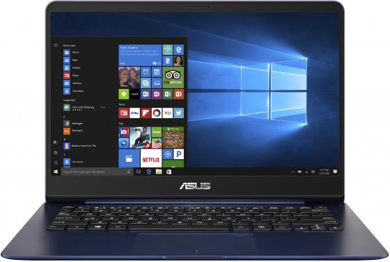 Ноутбук ASUS Zenbook UX430UA-GV285R 14 1920x1080 Intel Core i5-8250U 256 Gb 8Gb Intel UHD Graphics 620 синий Windows 10 Professional 90NB0EC5-M13790 ноутбук asus zenbook s ux391ua eg023r 13 3 1920x1080 intel core i7 8550u 512 gb 8gb intel uhd graphics 620 синий windows 10 professional 90nb0d91 m04650