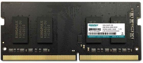 Оперативная память для ноутбука 8Gb (1x8Gb) PC4-19200 2400MHz DDR4 SO-DIMM CL17 KingMax KM-SD4-2400-8GS