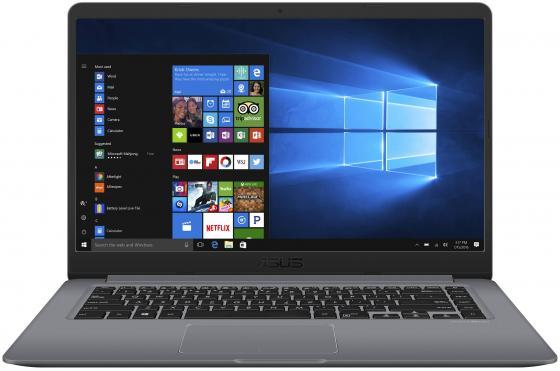 Ноутбук ASUS VivoBook S15 S510UN-BQ442T 15.6 1920x1080 Intel Core i5-8250U 500 Gb 128 Gb 6Gb nVidia GeForce MX150 2048 Мб серый Windows 10 Home 90NB0GS5-M07910