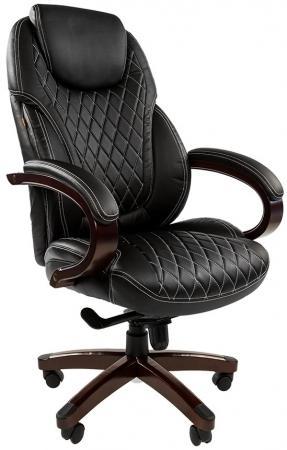 Офисное кресло СН 406 Россия PU черное (7014852) офисное кресло chairman 403 кожа pu черное