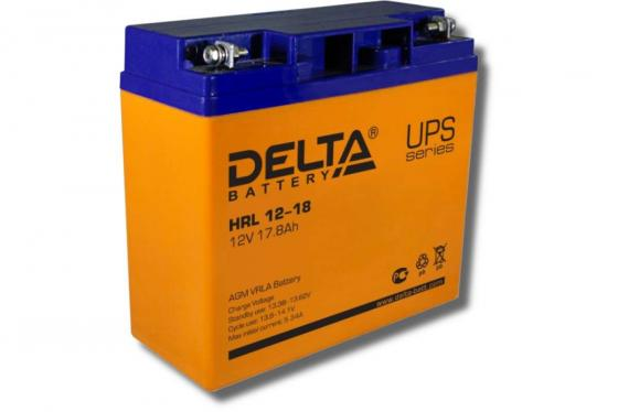 Delta HRL 12-18 X (17.8 А\\ч, 12В) свинцово- кислотный аккумулятор аккумулятор delta gx 12 120 12v 120 а ч gel