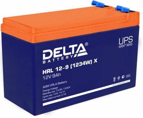 Батарея Delta HRL 12-9 X (9А\\ч, 12В) свинцово- кислотный 1234W батарея delta hrl 12 9 12 34w 12v 9ah battary replacement apc rbc17 rbc24 rbc110 rbc115 rbc116 rbc124 rbc133