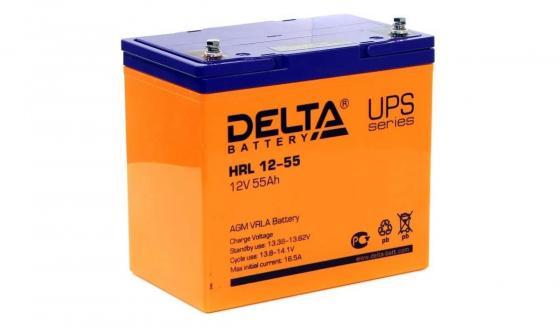 Delta HRL 12-55 X (55 А\\ч, 12В) свинцово- кислотный аккумулятор цена