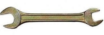 Ключ рожковый СИБРТЕХ 14311 (19 / 22 мм) желтый цинк цена