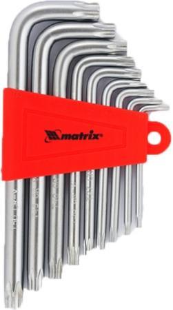 Набор ключей MATRIX 12305 имбусовых torx 9шт: t10-t50 crv короткие сатин. набор инструментов matrix 11222 набор ключей имбусовых 2 012мм 9шт