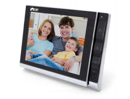 Комплект видеодомофон+вызывная панель FORT Automatics C0802HF-01 White с координатным блоком сопряжения
