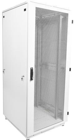 Шкаф телекоммуникационный напольный 42U (600x800) дверь перфорированная (3 места)