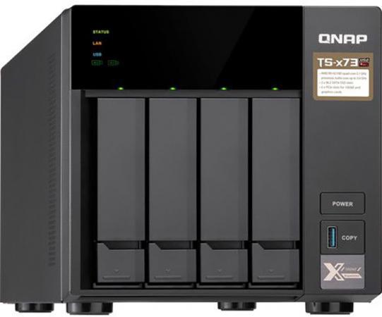 СХД настольное исполнение 4BAY 4GB TS-473-4G QNAP схд стоечное исполнение 8bay 2u no hdd usb3 1 ts 832xu 4g qnap