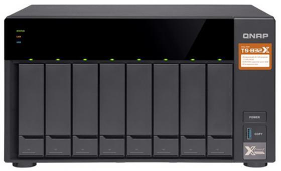 СХД настольное исполнение 8BAY NO HDD TS-832X-2G QNAP схд стоечное исполнение 4bay rp no hdd ts 432xu rp 2g qnap