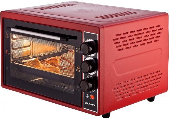Мини-печь Kraft KF-MO 3804 KR красный мини печь кумтел kf 3100